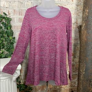 NWT Jones New York Knit Top Raspberry Melange